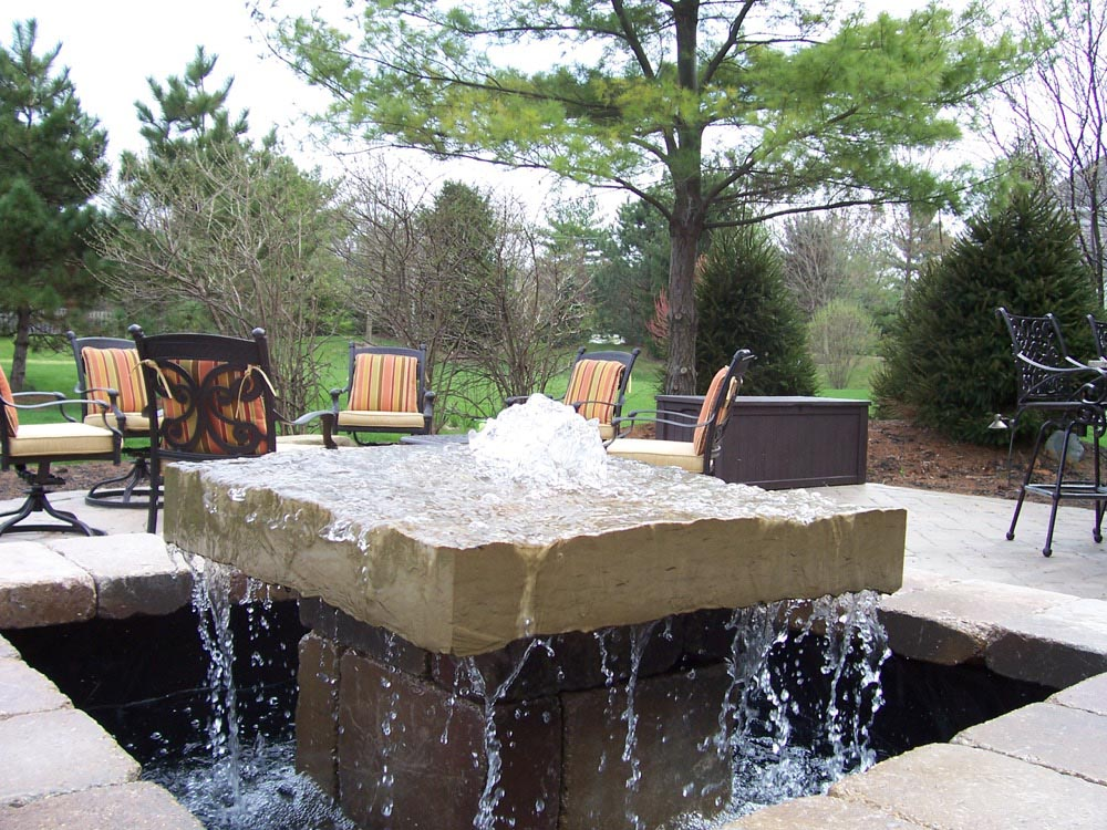 Outdoor Water Fountain Landscaping Backyard Design Ideas