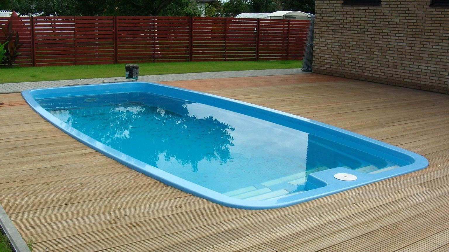 Small portable lap pools backyard design ideas for Above ground fiberglass pools