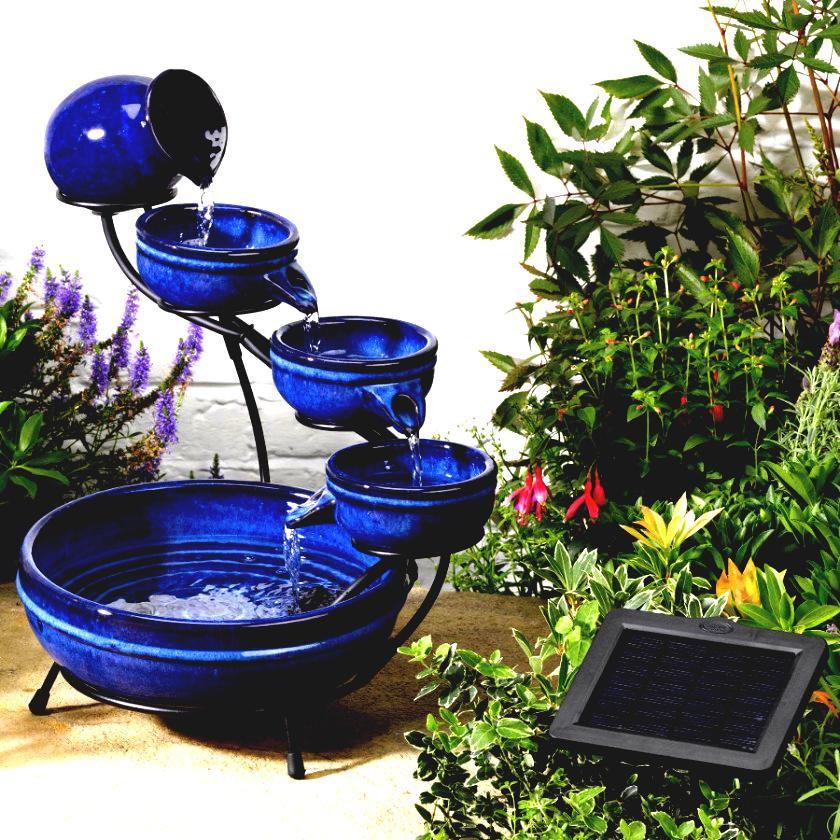 Solar garden fountains and ponds backyard design ideas for Backyard pond fountains