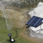 Solar Garden Pond Fountain