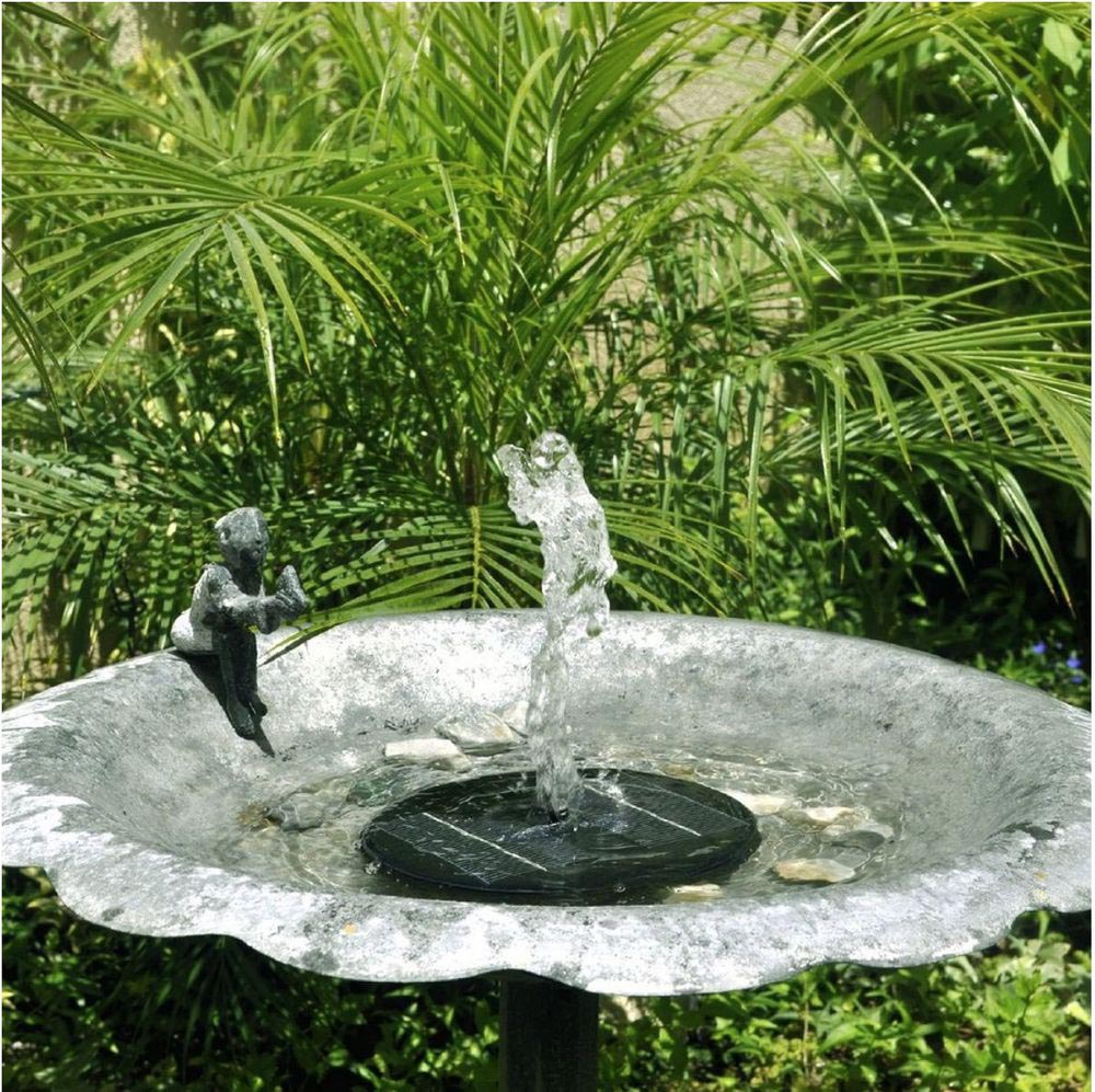 Solar powered garden fountain pond pool water pump kit for Fish pond fountain design