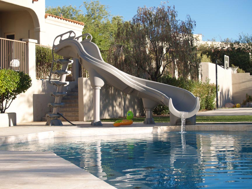 Tallest Home Pool Slide Backyard Design Ideas