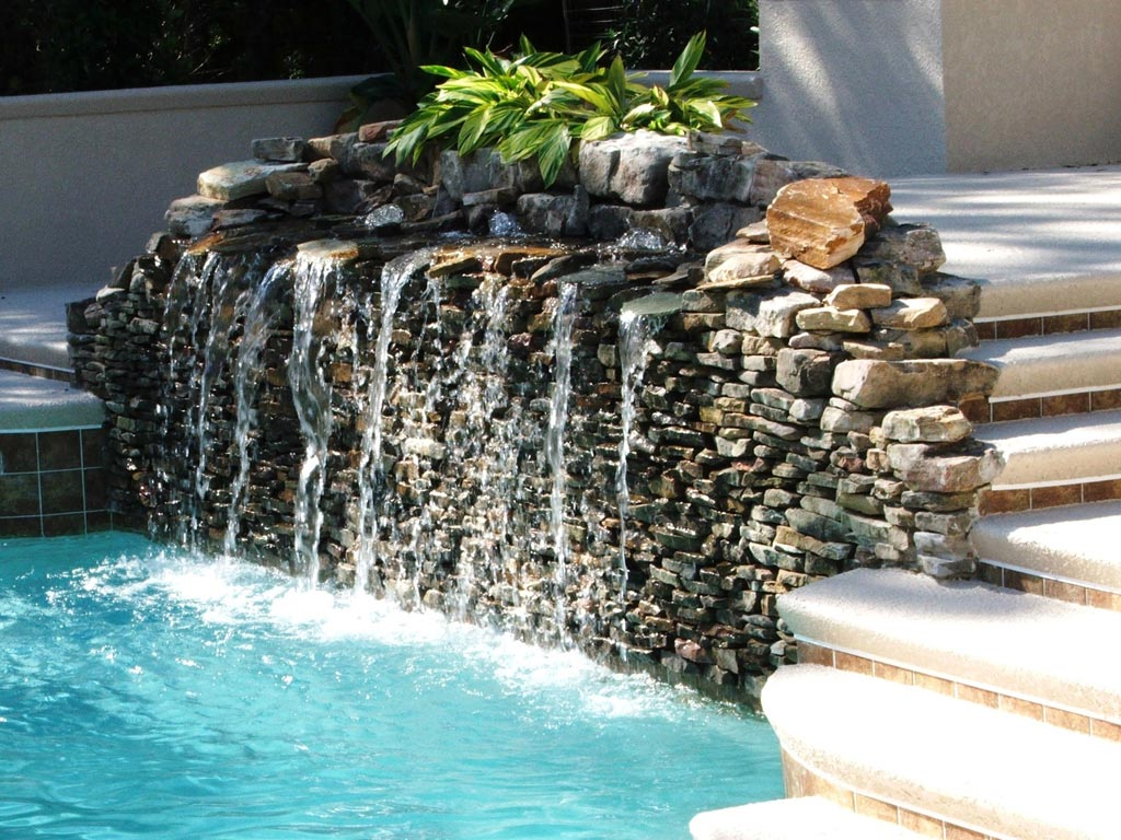 Water Fountain in Backyard