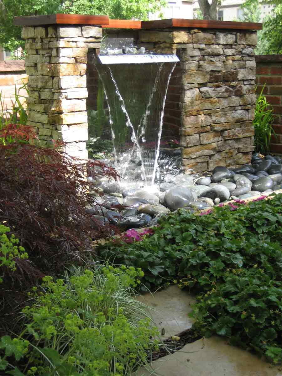 Water fountains for garden ponds backyard design ideas for Waterfall features for ponds