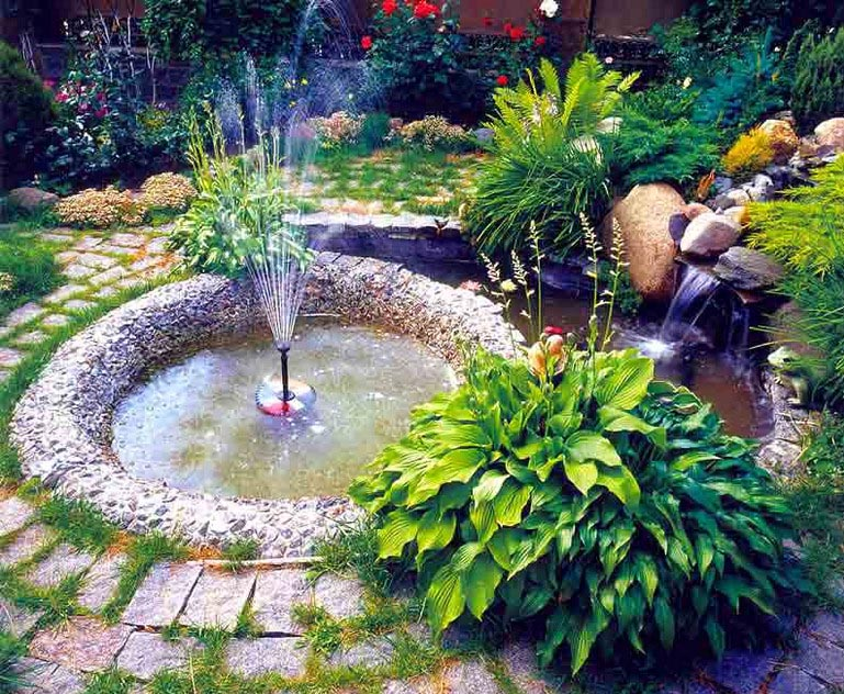 Water fountains for the backyard backyard design ideas for Small backyard water features