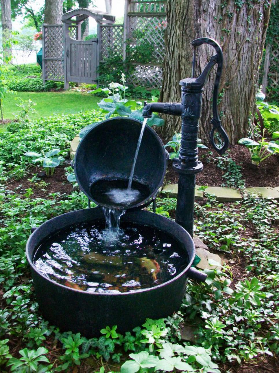 Water fountains stone landscaping backyard design ideas Water fountain landscaping ideas