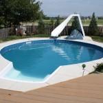 Water Slide Backyard Pool