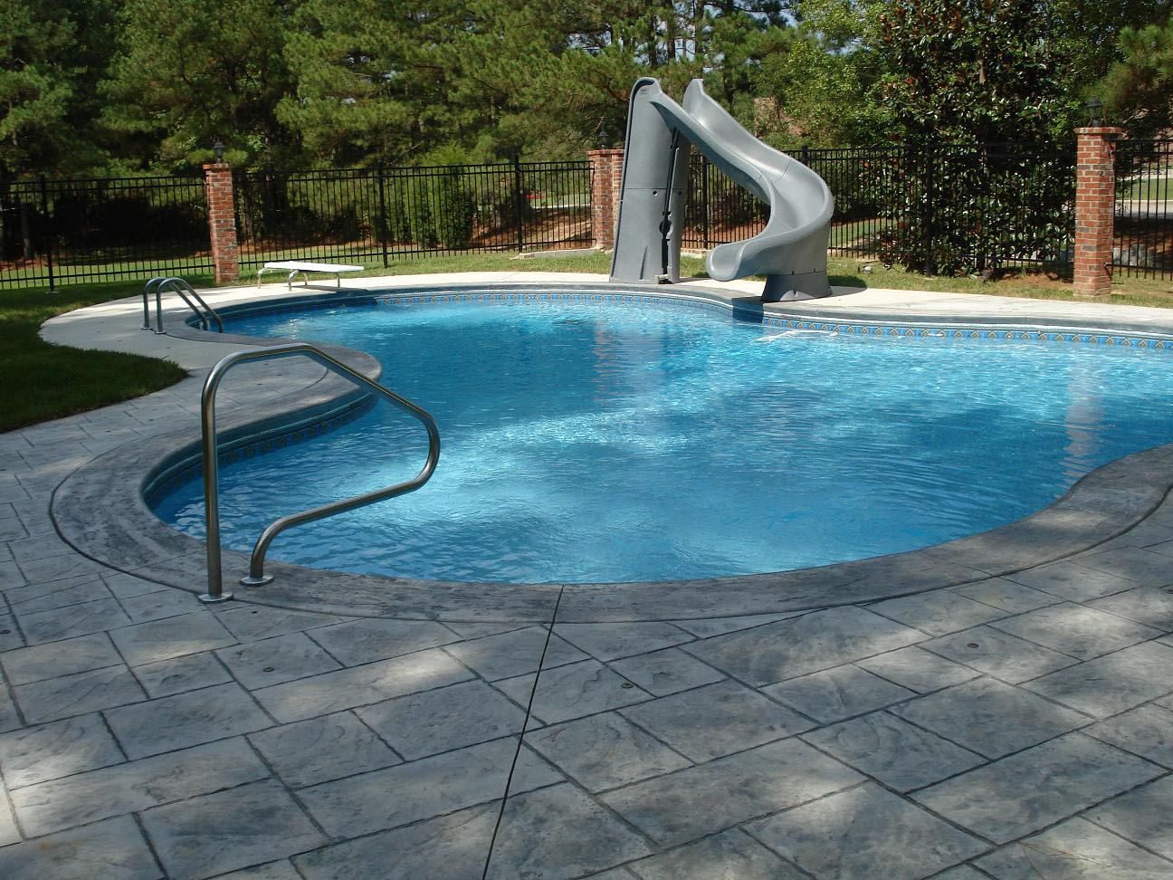 Fun of home pool slides backyard design ideas for Pool with pool house