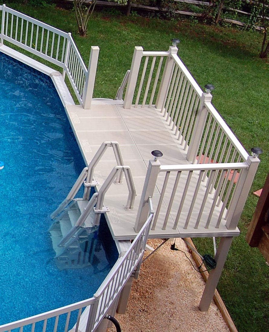 Above Ground Swimming Pool Deck Ideas Backyard Design Ideas