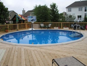 Above Ground Swimming Pool Decks Plans