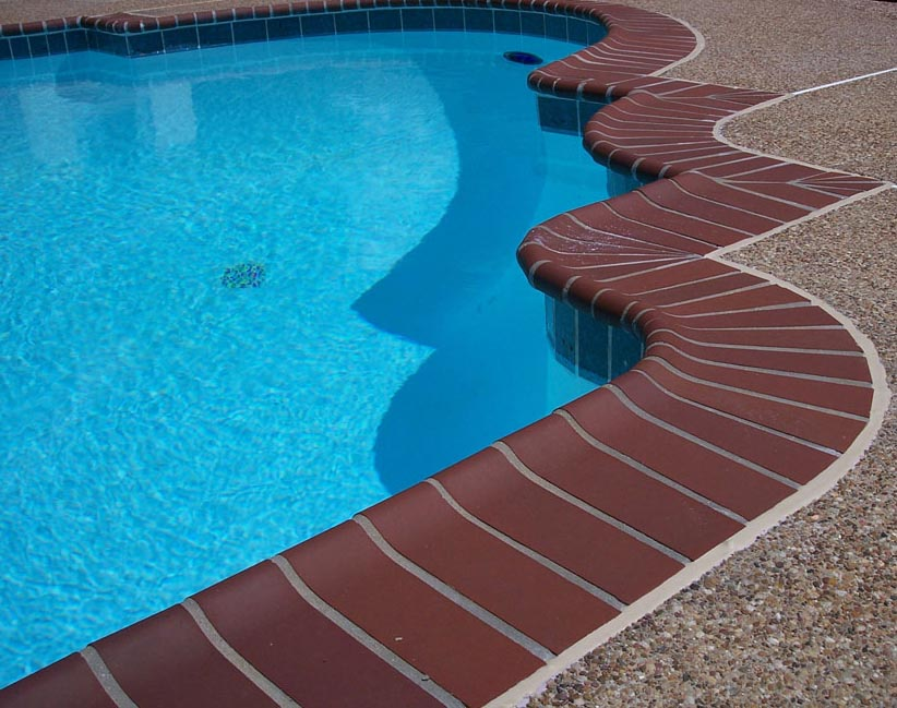 Brick Coping for Swimming Pools
