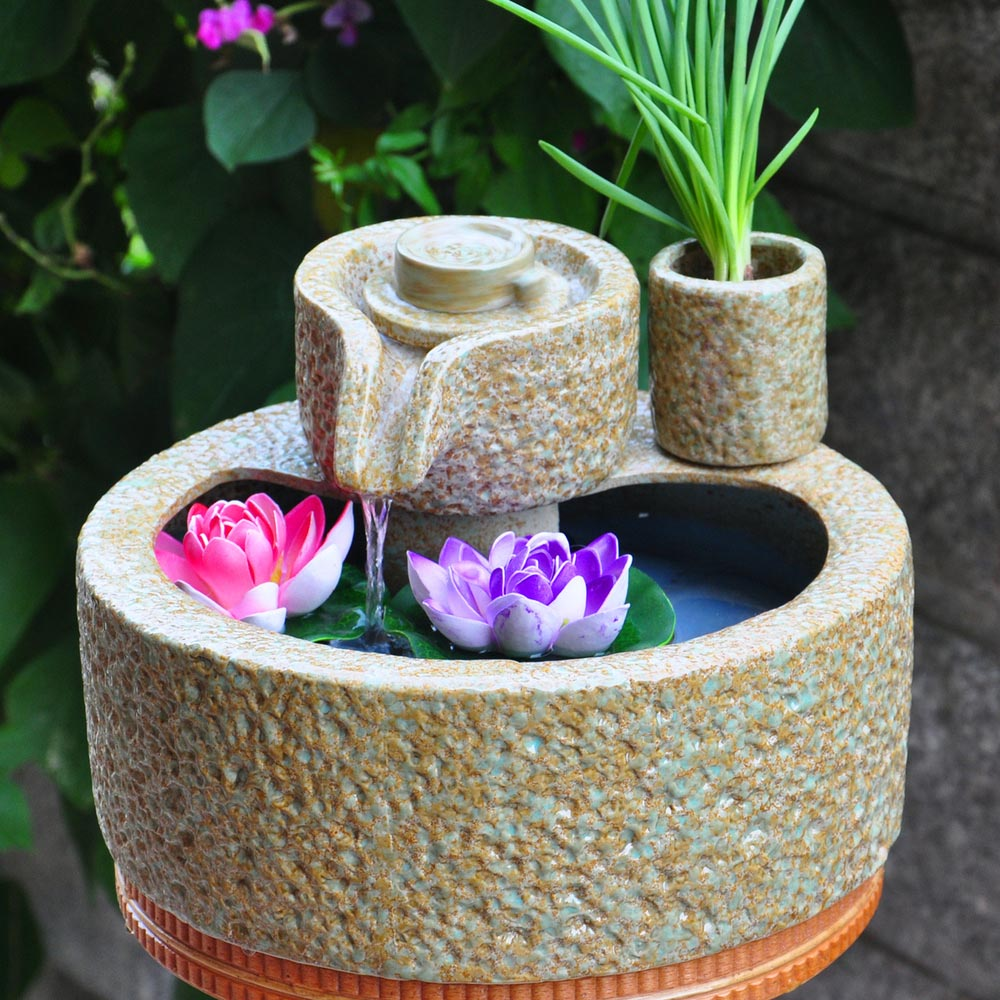 ceramic tabletop water fountains backyard design ideas