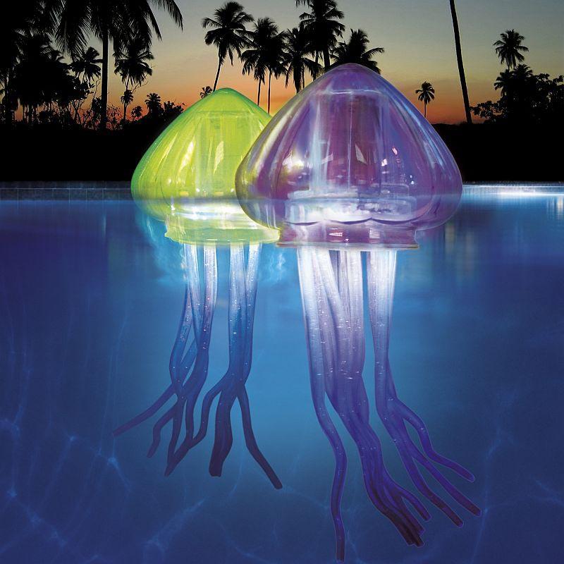 Cool Floating Pool Lights Backyard