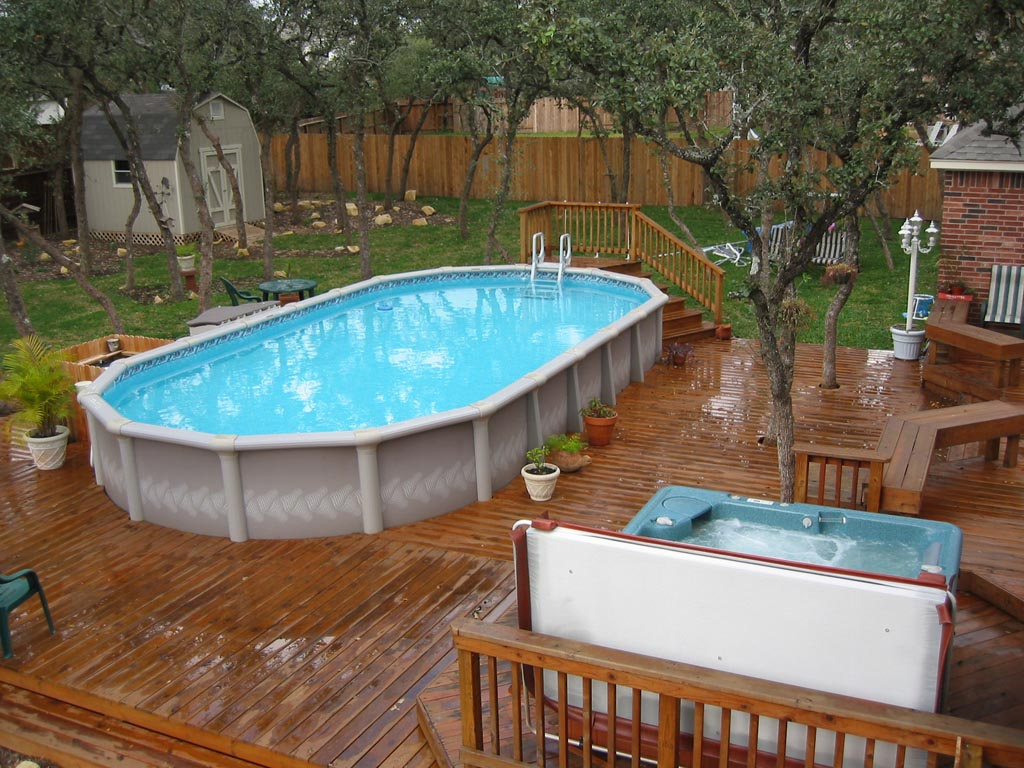 DIY Above Ground Swimming Pool | Backyard Design Ideas
