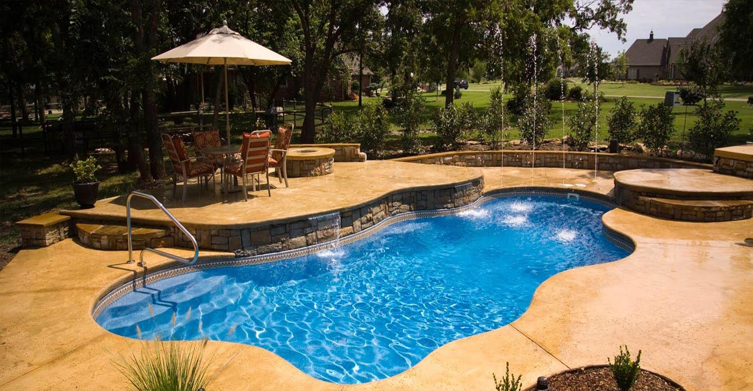 Diy inground swimming pool kits backyard design ideas for Pictures of inground pools