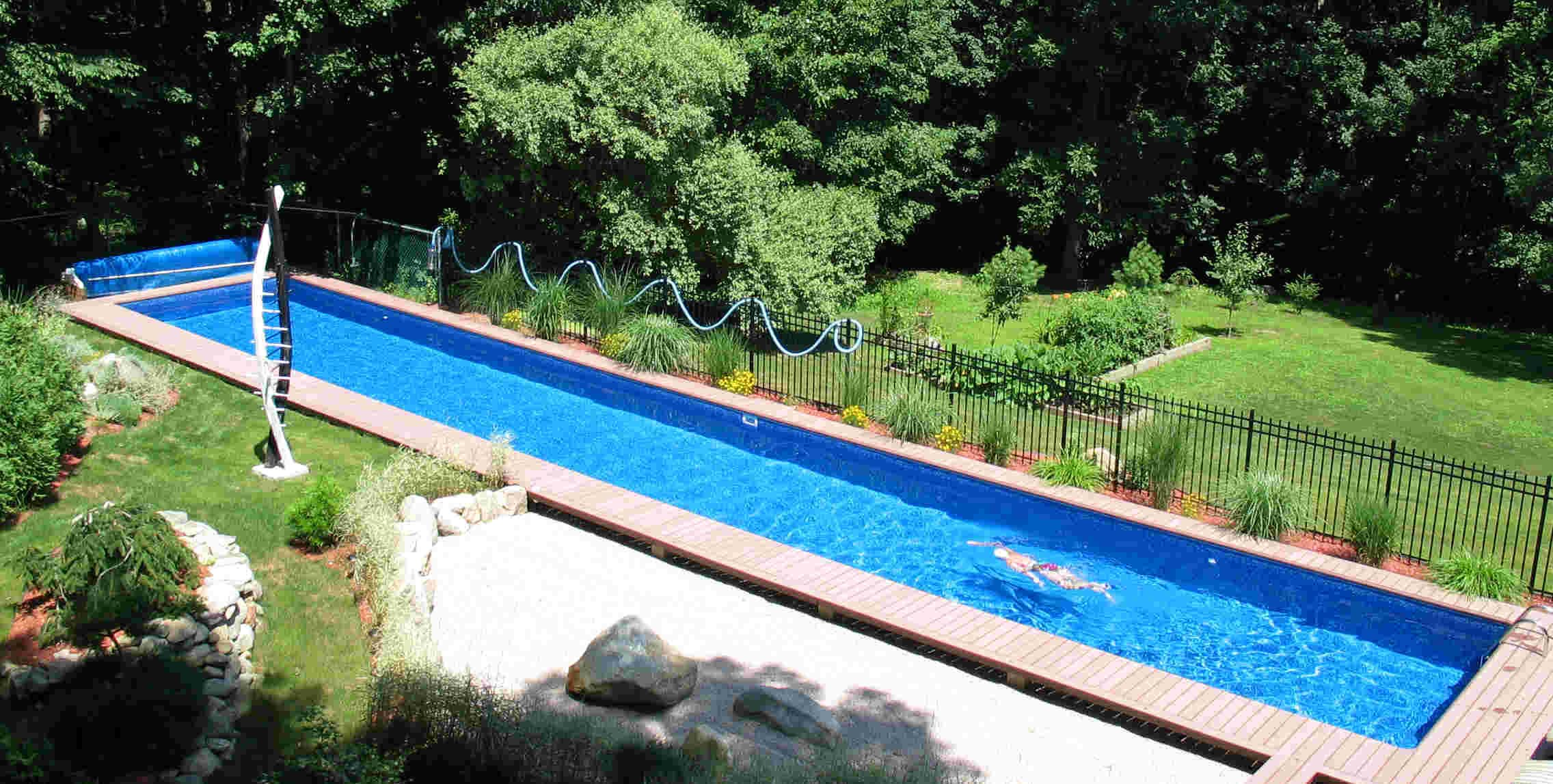 Diy inground swimming pool backyard design ideas for Pictures of swimming pools in backyards