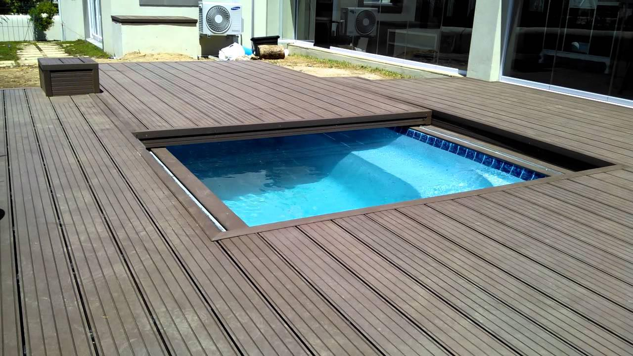 Diy swimming pool cover backyard design ideas for Above ground pool cover ideas