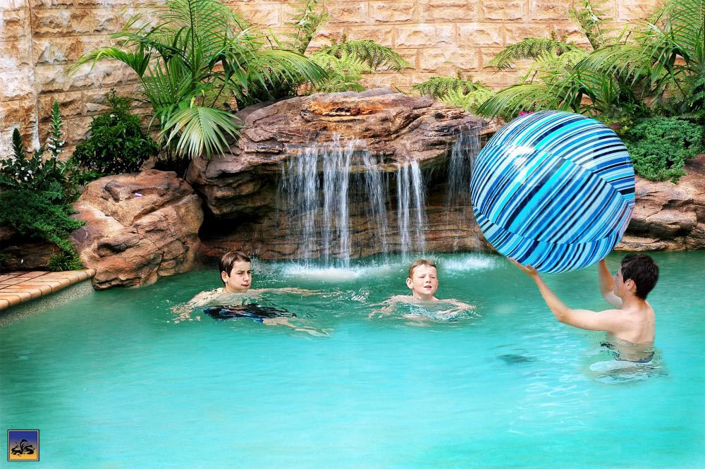 Fake Rock Waterfalls For Pools Backyard Design Ideas