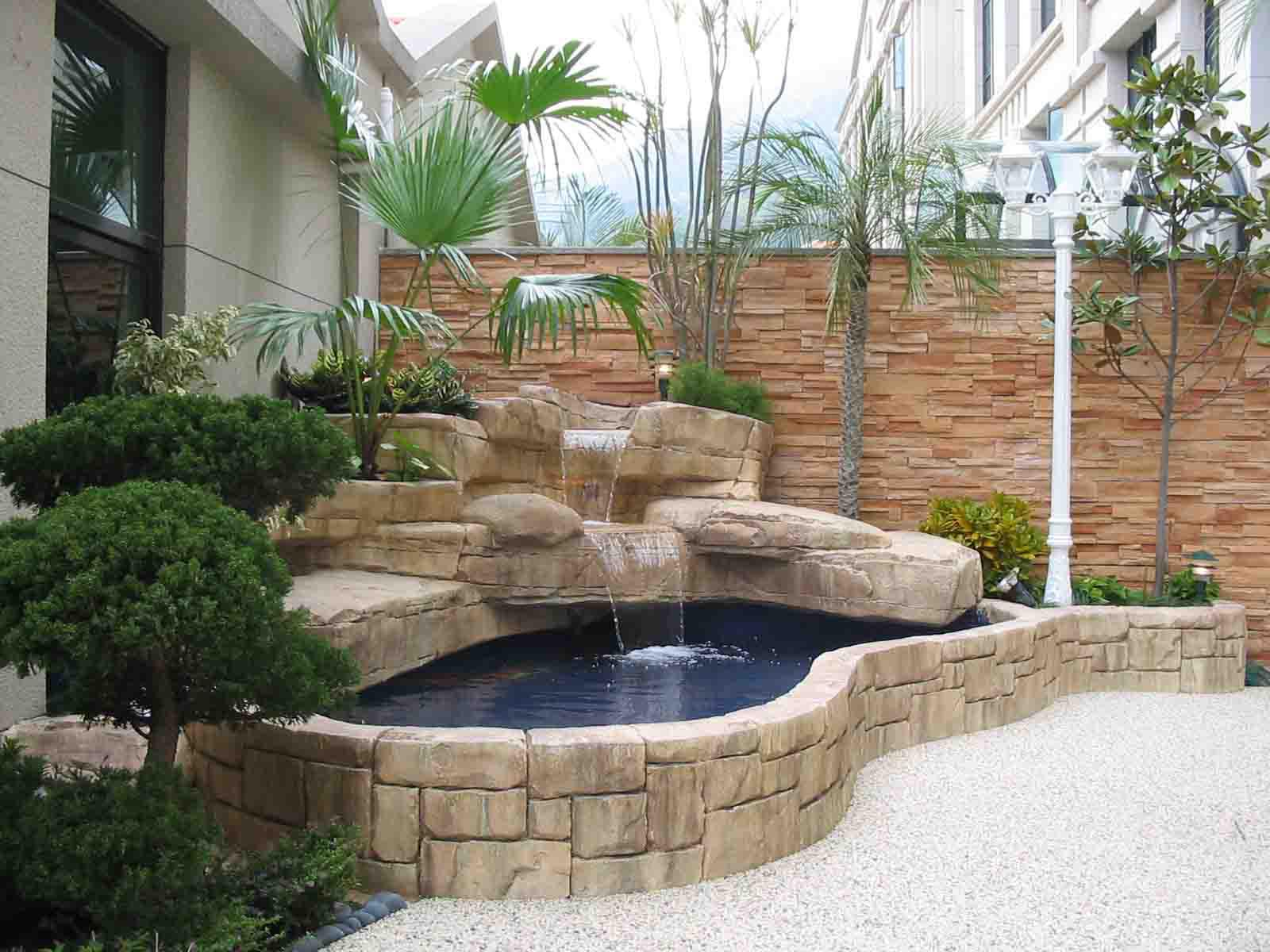 Fish pond garden design backyard design ideas for Small pond house plans
