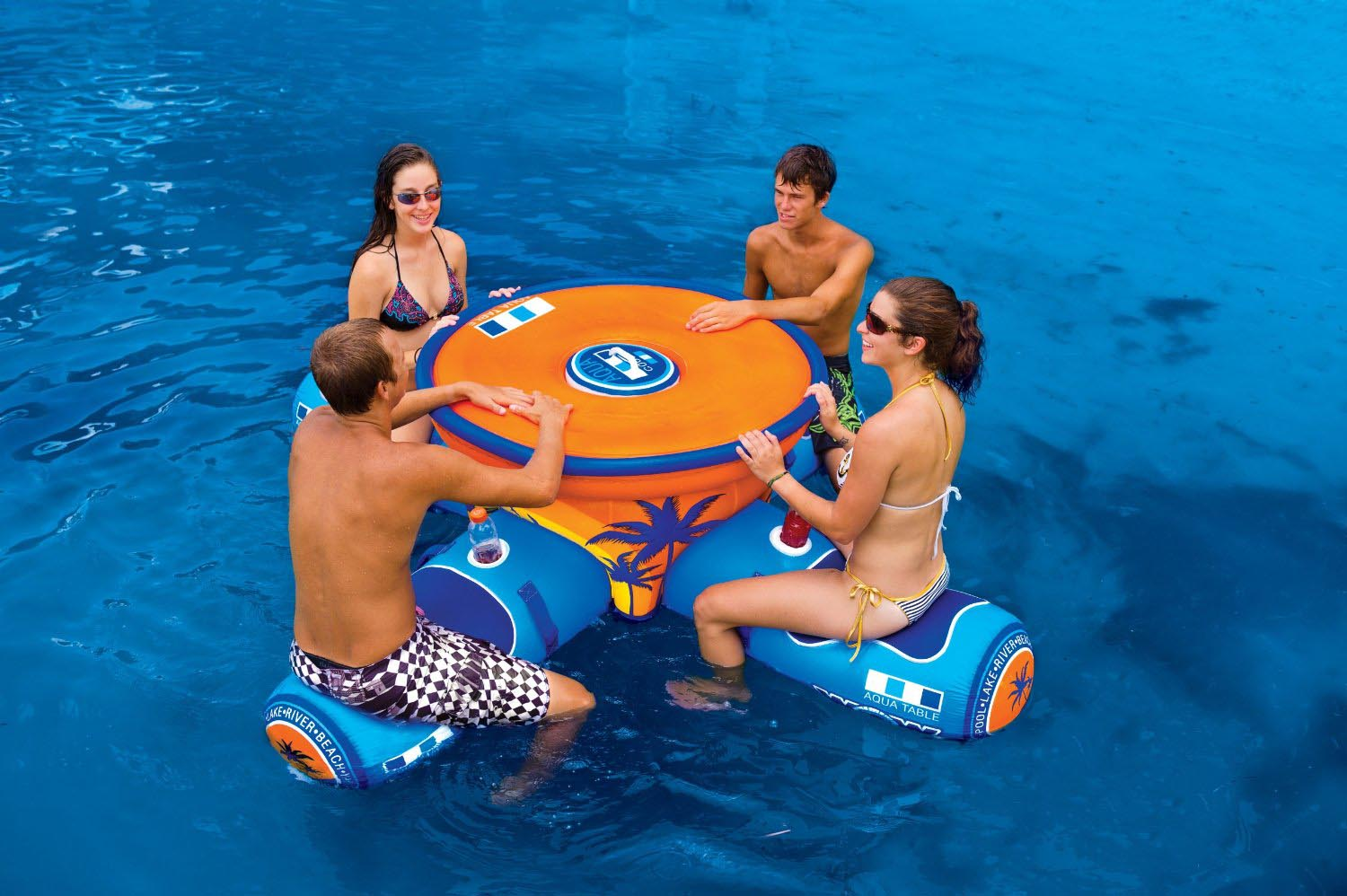 Floating Aqua Pool Bar