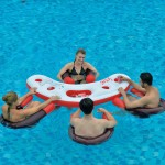 Floating Pool Bar with Seats