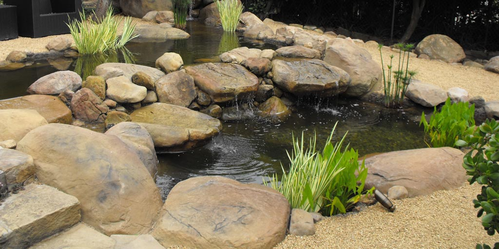 Garden fish pond construction backyard design ideas for Fish suitable for small pond