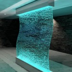 Indoor Glass Waterfall Wall