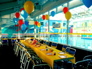 Indoor Pool Birthday Party