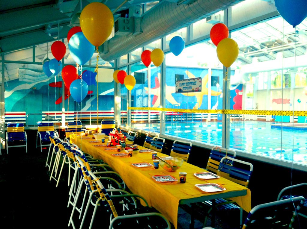 Indoor Pool Birthday Party Backyard Design Ideas