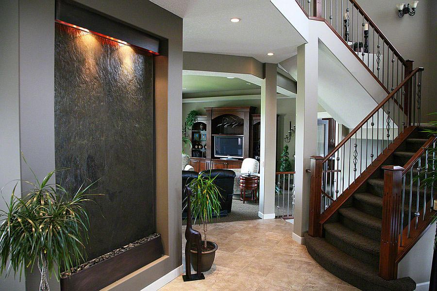 indoor waterfall wall decor  backyard design ideas, Home designs