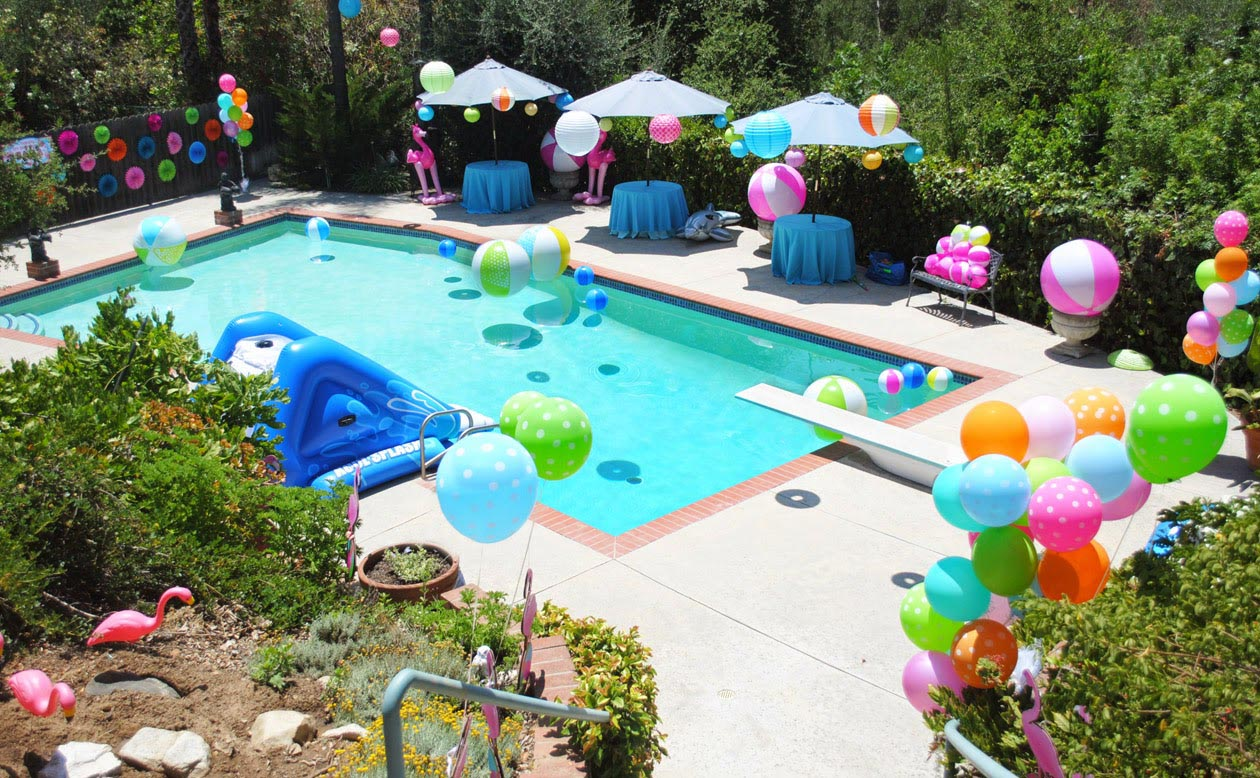 Kid Pool Party Decorations