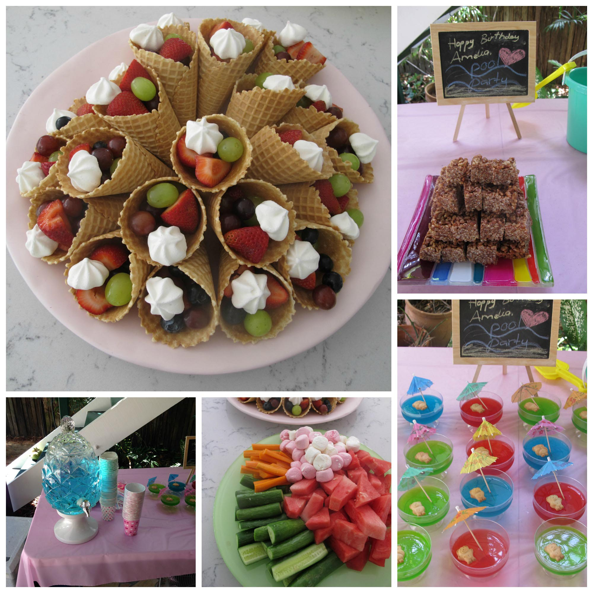 kid pool party food backyard design ideas