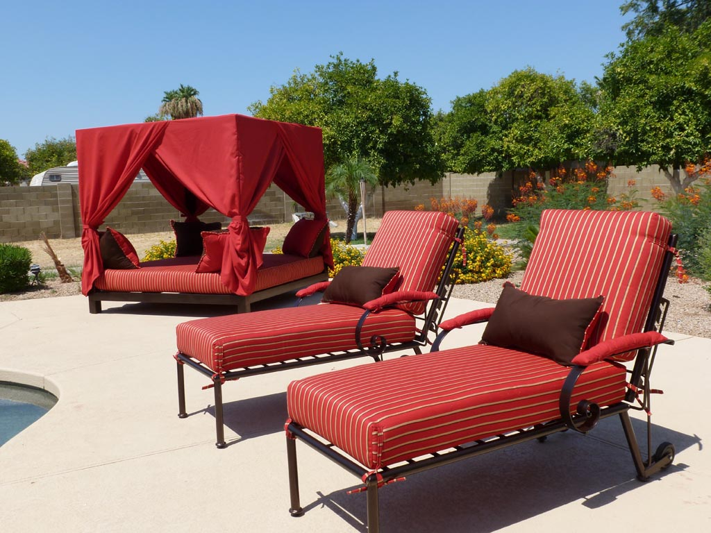 Outdoor patio pool furniture backyard design ideas for Pool and patio furniture