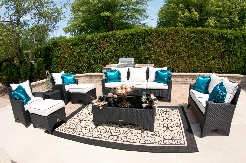 Outdoor pool patio furniture backyard design ideas for Pool and patio furniture