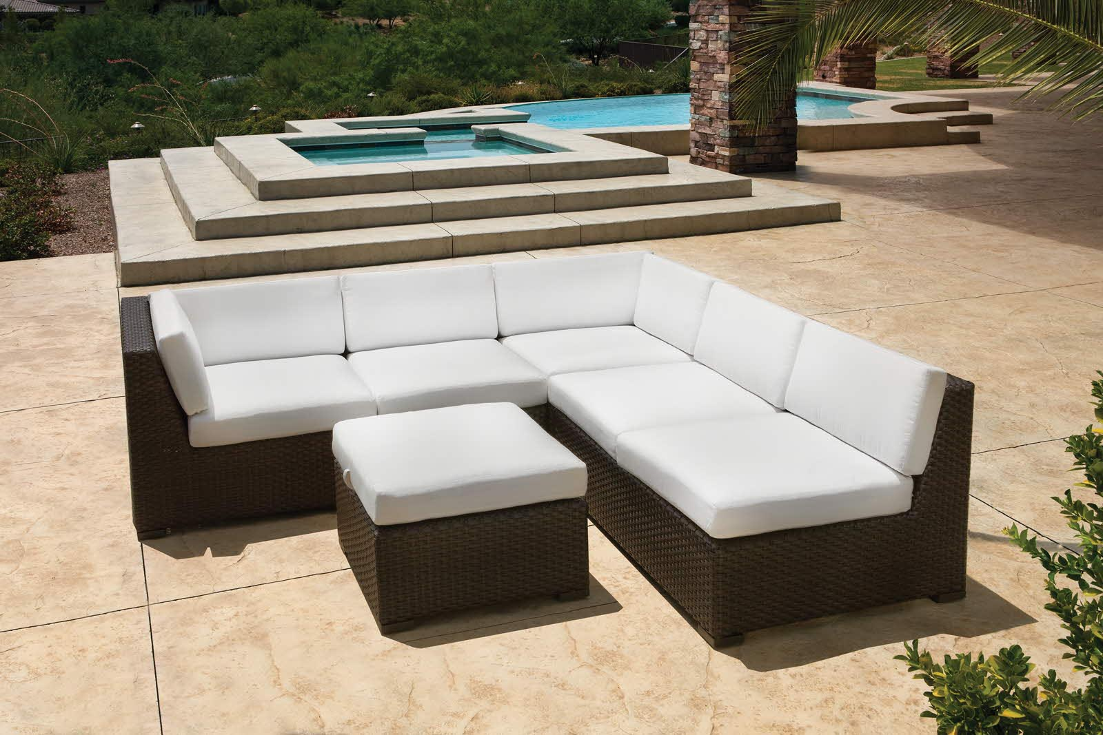 Pool and patio furniture backyard design ideas for Pool and patio furniture