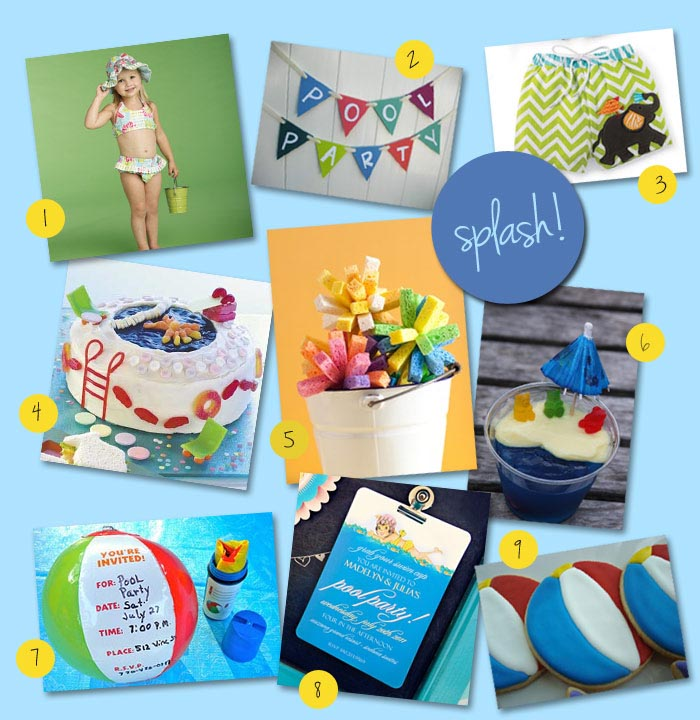 Pool Party Birthday Ideas