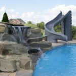 Pools with Slides and Waterfalls