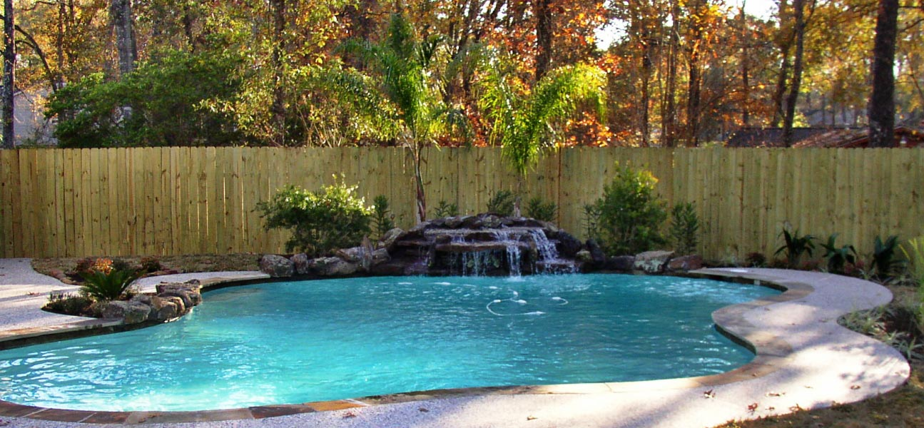 Rock Waterfall For Pool Backyard Design Ideas