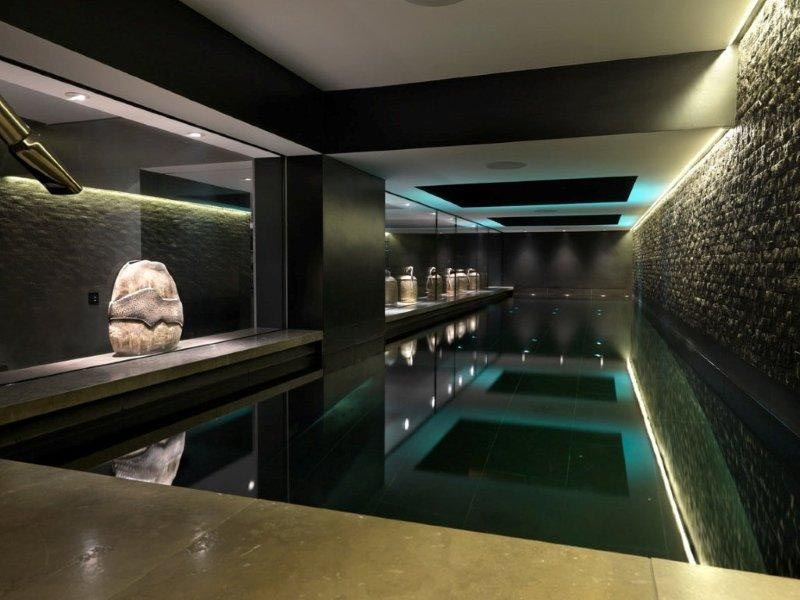 Small indoor swimming pools backyard design ideas for Basement swimming pool ideas