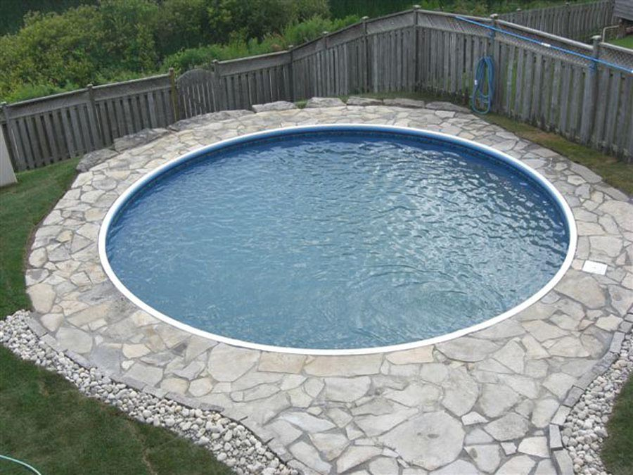 Beauty of a small swimming pool backyard design ideas for Inexpensive in ground pool ideas