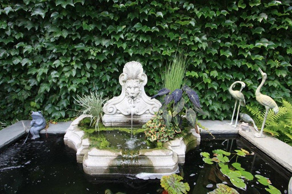 Small pond fountain pumps backyard design ideas for Fish pond fountain design