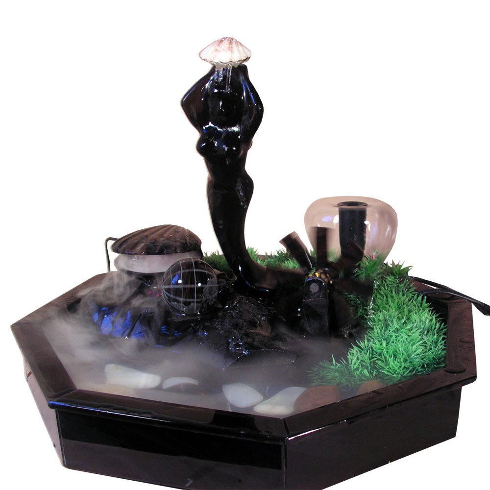 small tabletop water fountain backyard design ideas