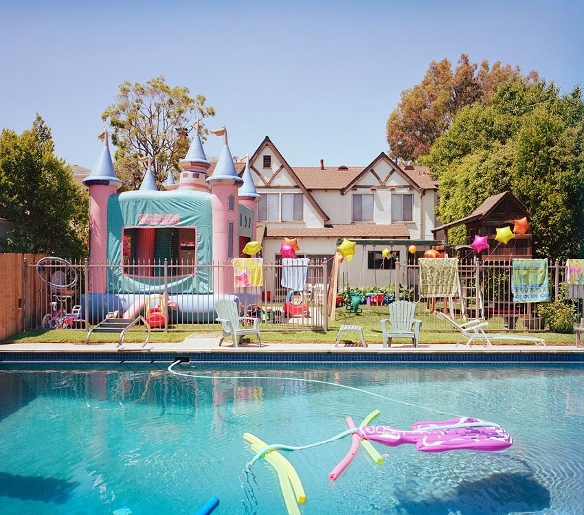 Swimming Pool Birthday Party Backyard Design Ideas
