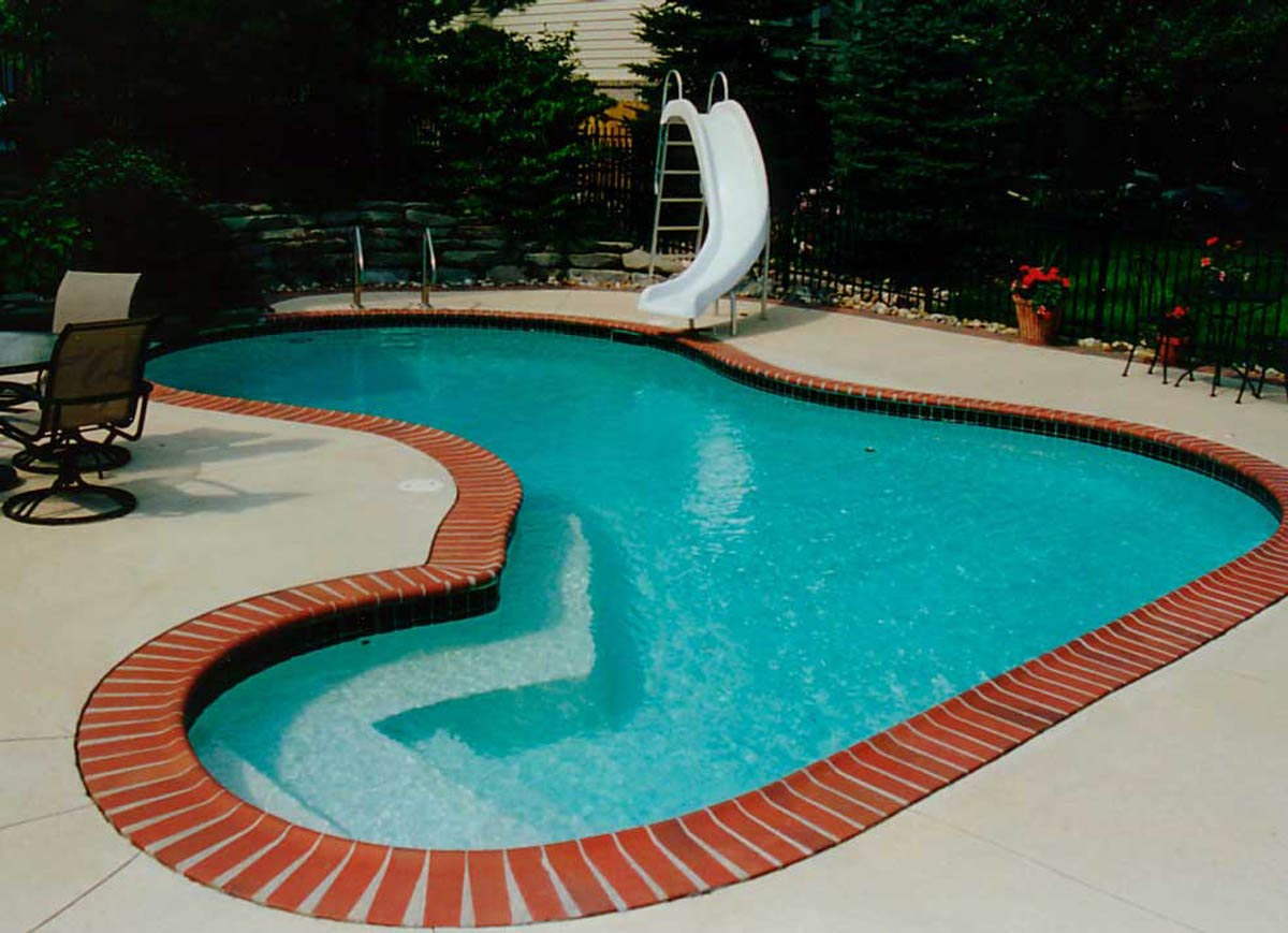 Swimming pool coping ideas backyard design ideas for Painting aluminum swimming pool coping