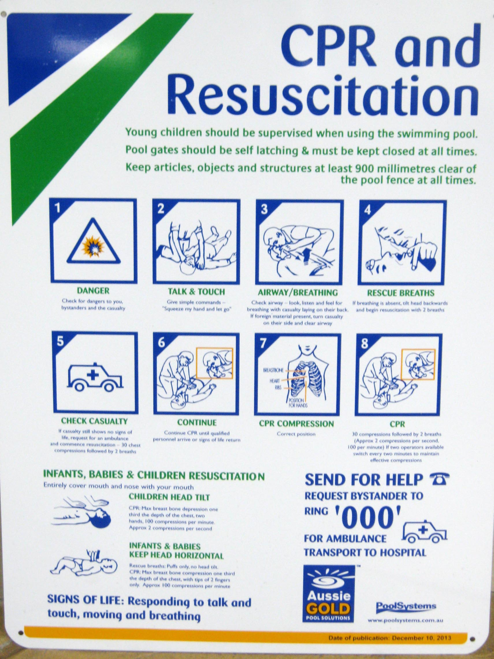 Swimming Pool CPR Signs QLD