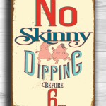 Swimming Pool Decor Signs