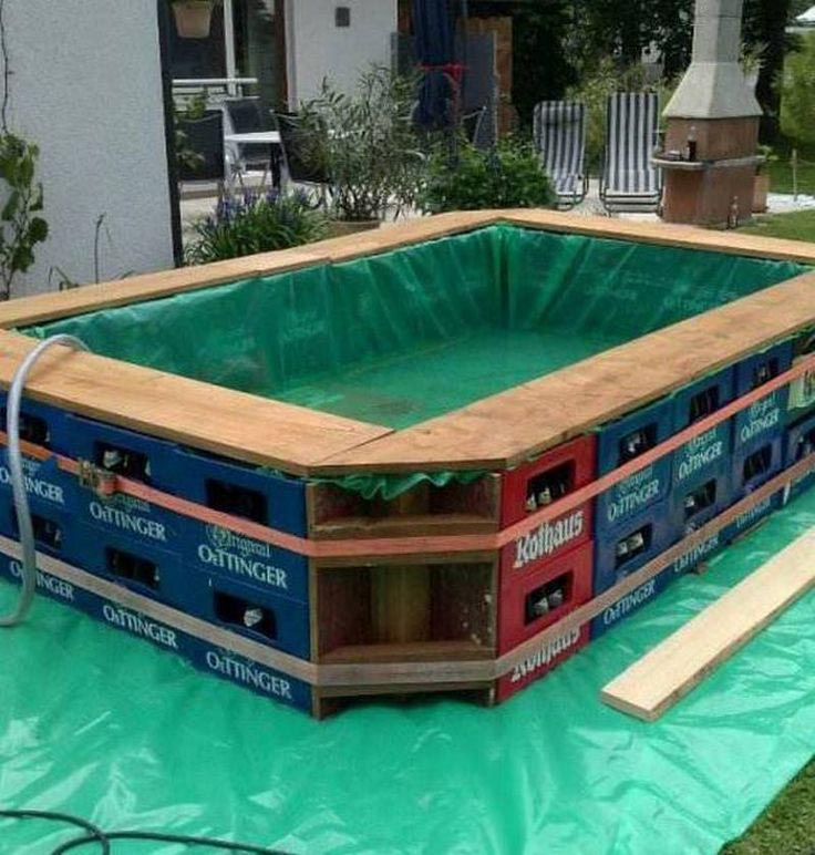 Swimming pool diy construction backyard design ideas for Diy small pool