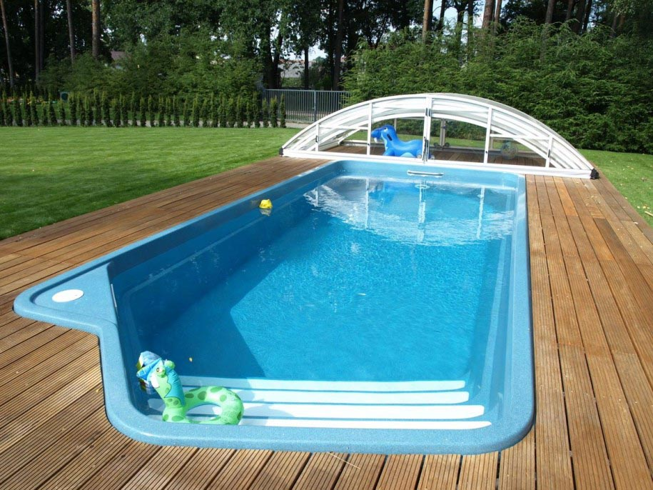 Swimming pool diy kit backyard design ideas for One piece inground swimming pool
