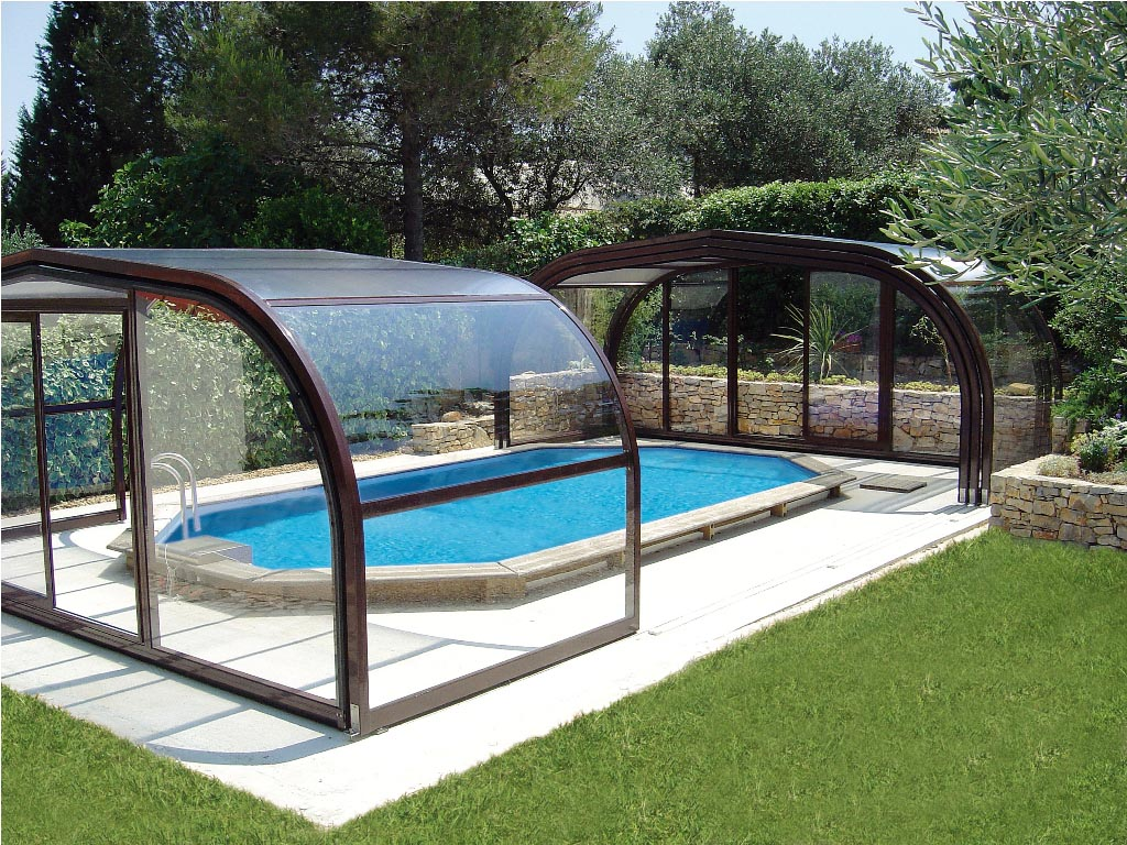 Swimming pool enclosures diy backyard design ideas for Diy garden pool
