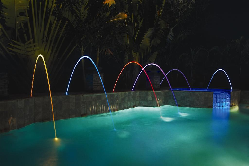Swimming Pool Fountains And Lights | Backyard Design Ideas